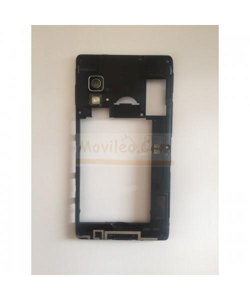 Marco Intermedio Negro Con Altavoz para Lg Optimus L5-II E460 - Imagen 1