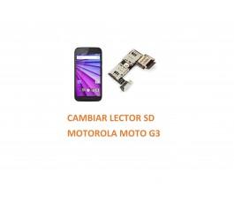 Cambiar Lector SD Motorola Moto G3