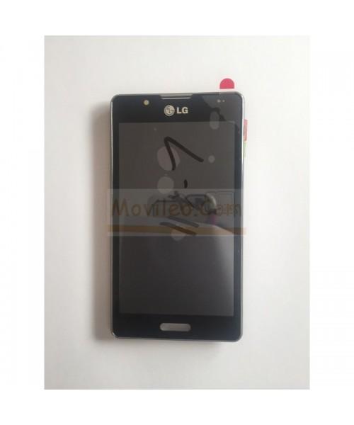 Pantalla Completa Negra Con Marco Chasis para Lg Optimus L7-II P710 - Imagen 1