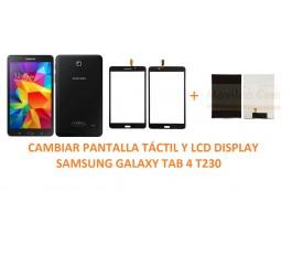 Cambiar Pantalla táctil Y LCD Display Samsung Galaxy Tab 4 T230