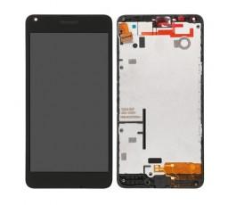 Pantalla completa con marco para Nokia Lumia 640 negra