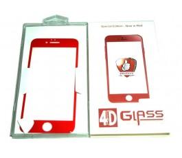 Cristal templado para iPhone 6 Plus y 6s Plus 5.5´´ rojo