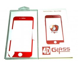 Cristal templado para iPhone 7 Plus 5.5´´ rojo