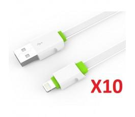 10 Cable Lightning Ldnio LS01 de 2m blanco con verde