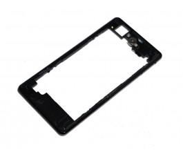 Marco intermedio para Sony Xperia Z1 Compact negro original