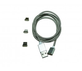 Cable magnético con 3 cabezales intercambiables