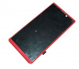Pantalla completa con marco para Woxter Zielo Z-400 Z400 rojo rosado Original