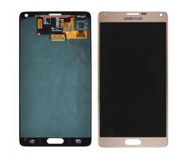 Pantalla Completa para Samsung Galaxy Note 4 N910F dorada
