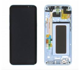 Pantalla completa lcd táctil marco para Samsung Galaxy S8 G950F azul