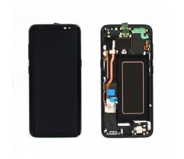 Pantalla completa lcd táctil marco para Samsung Galaxy S8 G950F negro