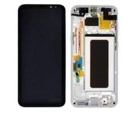 Pantalla completa con marco Samsung Galaxy S8 Plus G955F plata gris