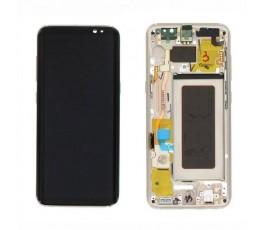Pantalla completa con marco Samsung Galaxy S8 Plus G955F dorada