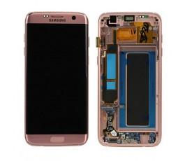 Pantalla completa para Samsung Galaxy S7 Edge G935 rosa