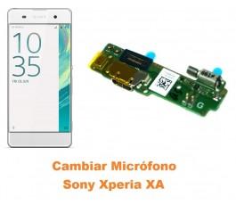 Cambiar micrófono Sony Xperia XA