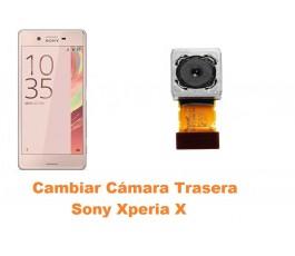 Cambiar cámara trasera Sony Xperia X