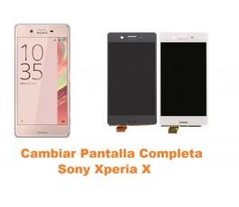 Cambiar pantalla completa táctil y lcd Sony Xperia X