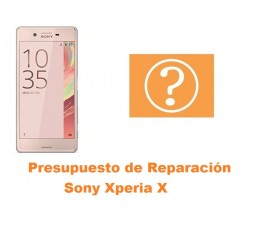 Presupuesto de reparación Sony Xperia X