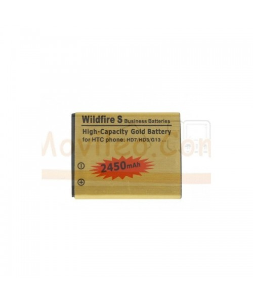 Bateria Gold de 2450mAh para Htc Wildfire S G13 HD3 HD7 - Imagen 1