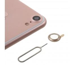 Embellecedor protector de cámara trasera para iPhone 7 oro dorado