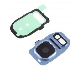 Embellecedor y cristal cámara Samsung S7 G930 S7 Edge G935 azul