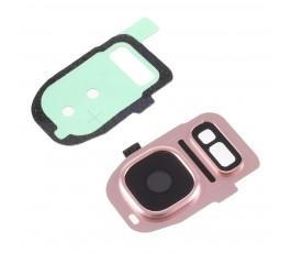 Embellecedor y cristal cámara Samsung S7 G930 S7 Edge G935 rosa