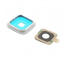 Embellecedor y cristal cámara para Samsung Note Edge N915 blanco
