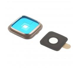 Embellecedor y cristal cámara para Samsung Note Edge N915 dorado