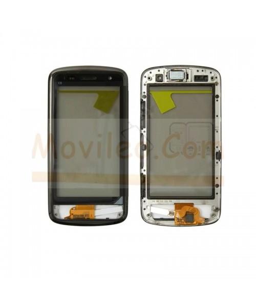 Pantalla Tactil con Marco Gris para Nokia C6-01 - Imagen 1
