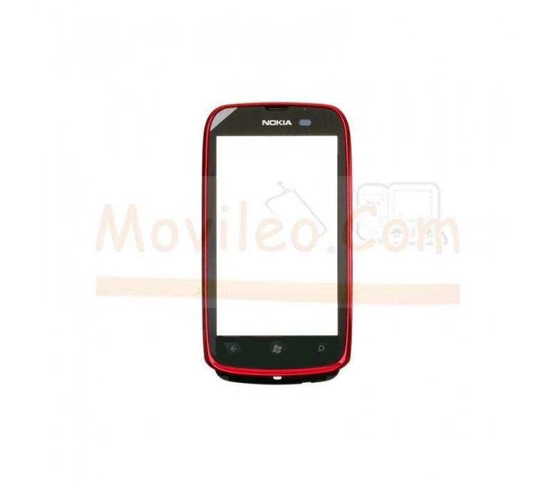 Pantalla Tactil con Marco Rojo para Nokia Lumia 610 - Imagen 1