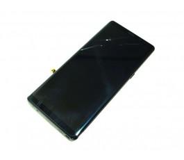 Pantalla completa táctil lcd y marco para Samsung Galaxy Note 8 negra original con tara