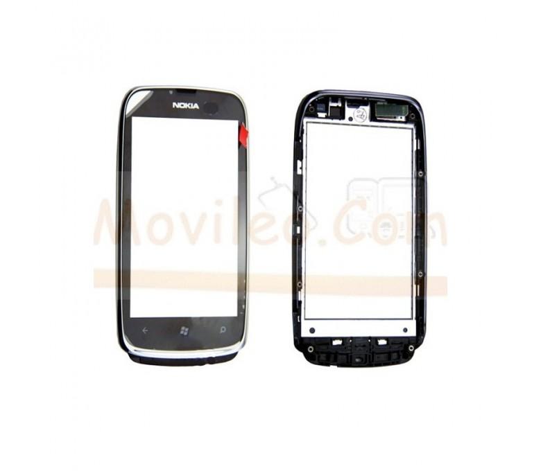 Pantalla Tactil con Marco Gris para Nokia Lumia 610 - Imagen 1