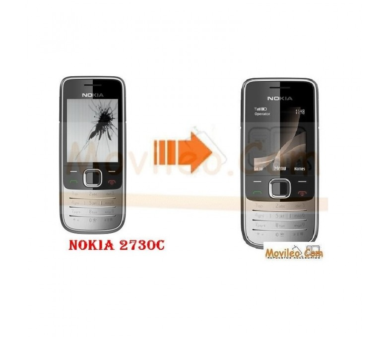 CAMBIAR PANTALLA LCD NOKIA 2730c - Imagen 1