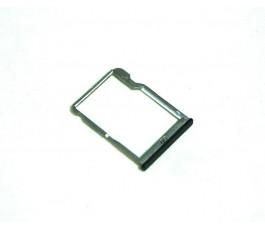 Porta tarjeta micro SD para Bq Aquaris M5.5 negra original