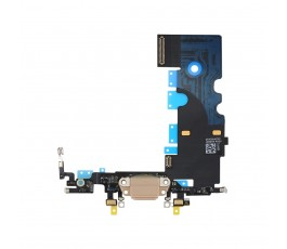Flex conector carga y micrófono para iPhone 8 dorado