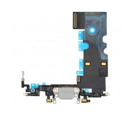 Flex conector carga y micrófono para iPhone 8 gris