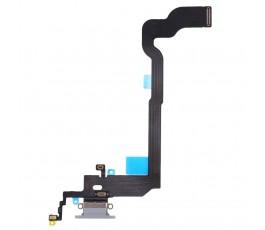 Flex conector carga y micrófono para iPhone X 10 blanco