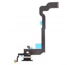 Flex conector carga y micrófono para iPhone X 10 negro