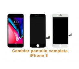 Cambiar pantalla completa táctil y lcd iPhone 8