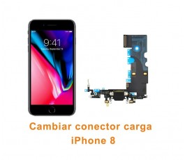 Cambiar conector carga iPhone 8