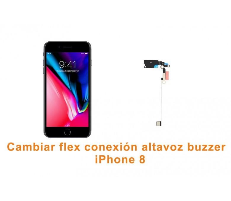 Cambiar flex conexión altavoz buzzer iPhone 8