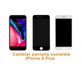 Cambiar pantalla completa táctil y lcd iPhone 8 Plus