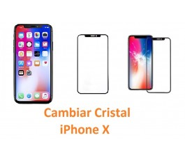 Cambiar cristal iPhone X 10