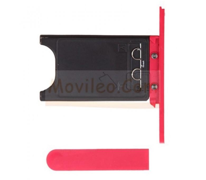 Porta sim y tapa micro usb para Nokia Lumia 800 Rojo - Imagen 1