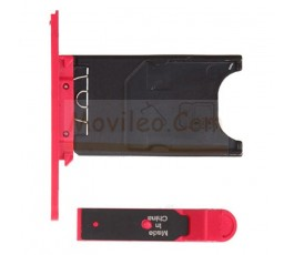 Porta sim y tapa micro usb para Nokia Lumia 800 Rojo - Imagen 2