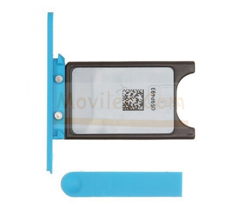 Porta sim y tapa micro usb para Nokia Lumia 800 Azul - Imagen 1