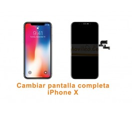 Cambiar pantalla completa táctil y lcd iPhone X