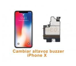 Cambiar altavoz buzzer iPhone X 10