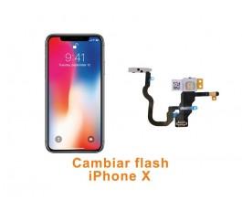 Cambiar flash iPhone X 10