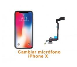 Cambiar micrófono iPhone X 10