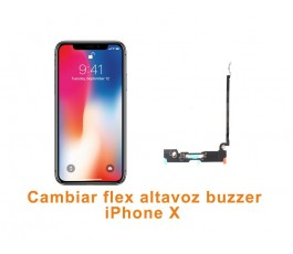 Cambiar flex altavoz buzzer iPhone X 10